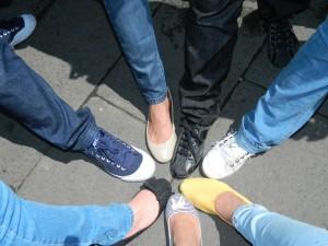 El grupo de BlogTripMex y sus pies viajeros / The group of BlogTripMex and their Traveling Fee