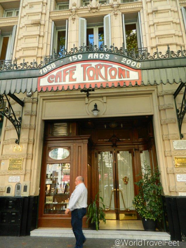 Fachada del Café Tortoni