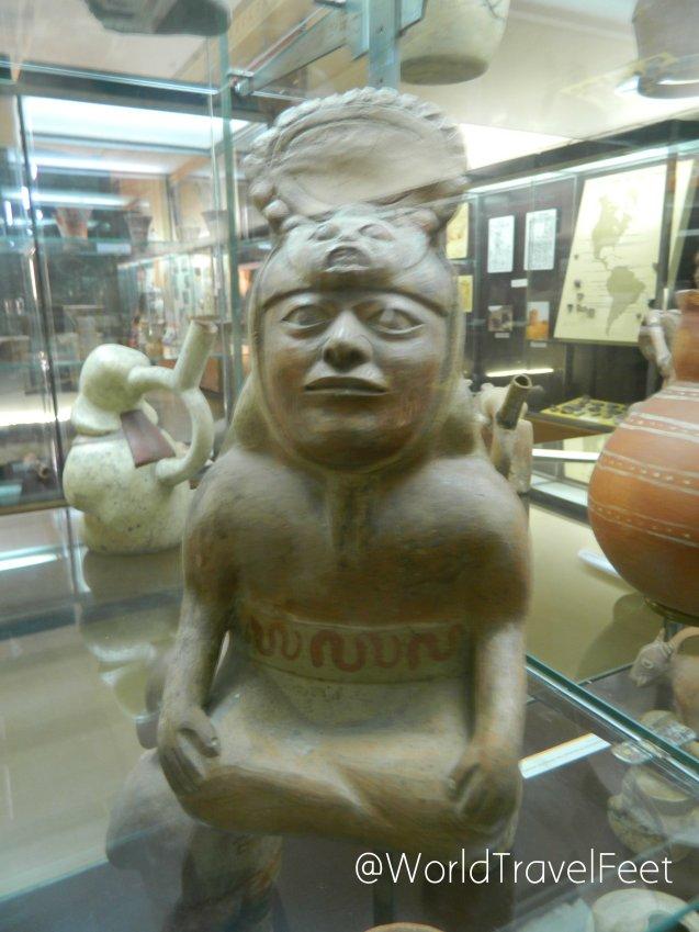 Figura prehispánica expuesta en el Museo de Ciencias Naturales de La Plata