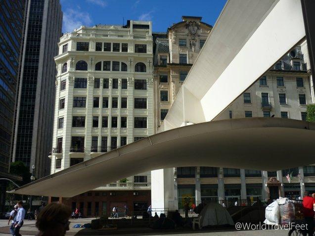 Estilos arquitectónicos fusionados en el centro de São Paulo.