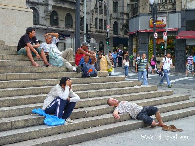 Imágenes con las que uno se topa caminando por el centro de São Paulo.