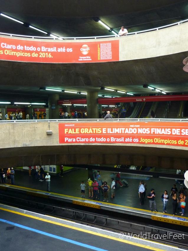 Estación de Metro en São Paulo.
