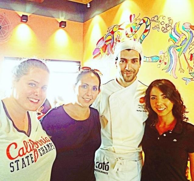 Con el chef y dueño del restaurante Mocotó.