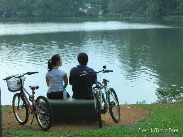 Momentos de relax en el parque Ibirapuera.