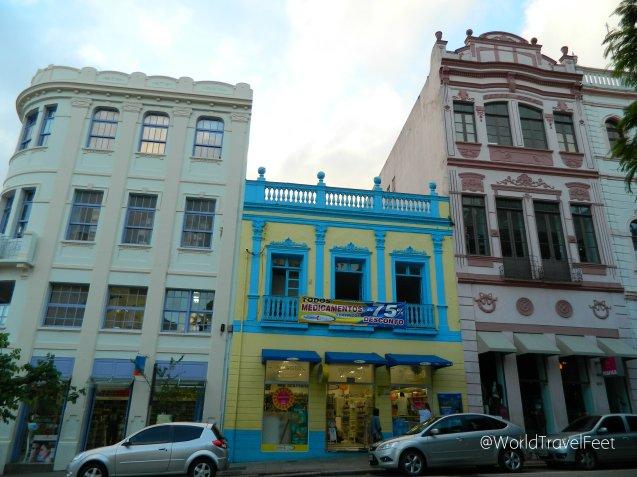 Ejemplo de arquitectura en el centro histórico de Florianópolis.