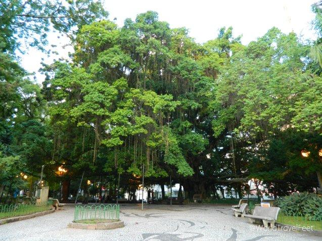 Parque en el centro histórico de Florianópolis.