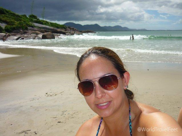 Disfturando de una mini playa casi para mi sola, es un gran placer de la vida.