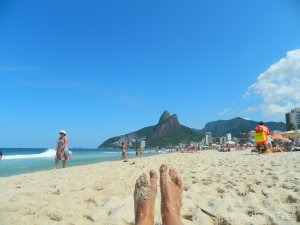 Playa de Ipanema en Río de Janeiro, Brasil.