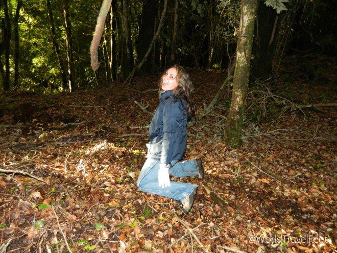 Después de caerme, embarrame contra el piso y comer hojas secas, mejor disfrutar del momento a carcajadas.
