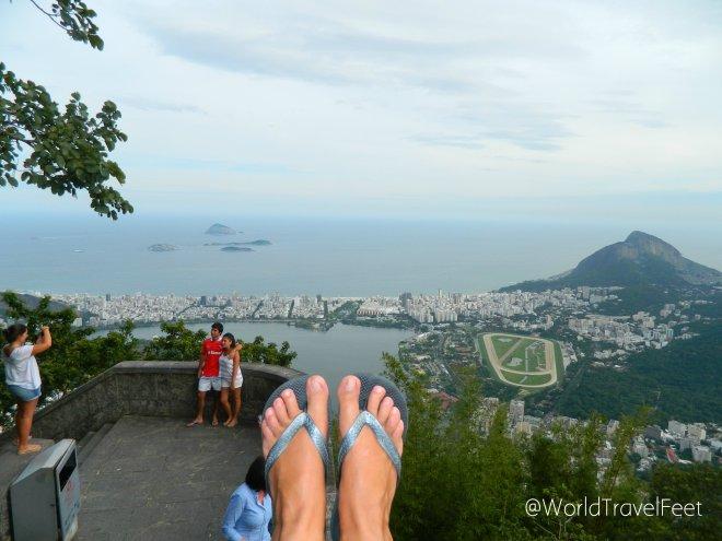 Una postal para recordar. Ahora sí tengo a Río de Janeiro a mis pies.