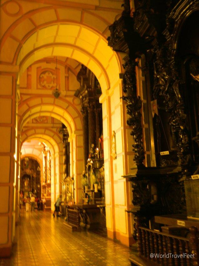 Interior de la Basílica de Nuestra Señora de la Merced.