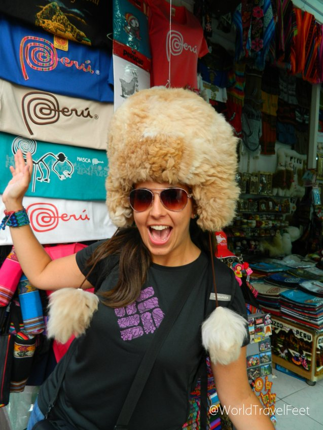 Me quedé con ganas locas de comprarme ese gorro de alpaca, suavecito y calientito.