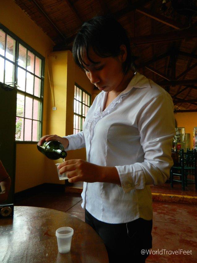 Cata de vino blanco en Viña Tacama.