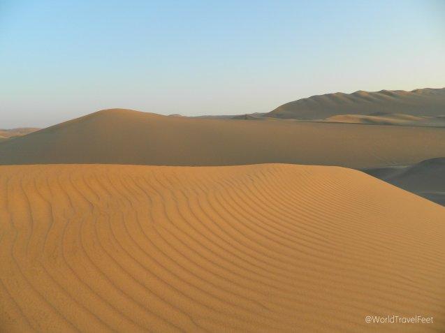 Dunas de arena del desierto de Huacachina.