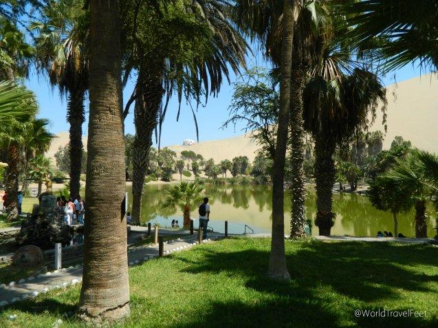 Vista del oasis de Huacachina
