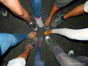 Muchos pies viajeros de #ViajeAdictos