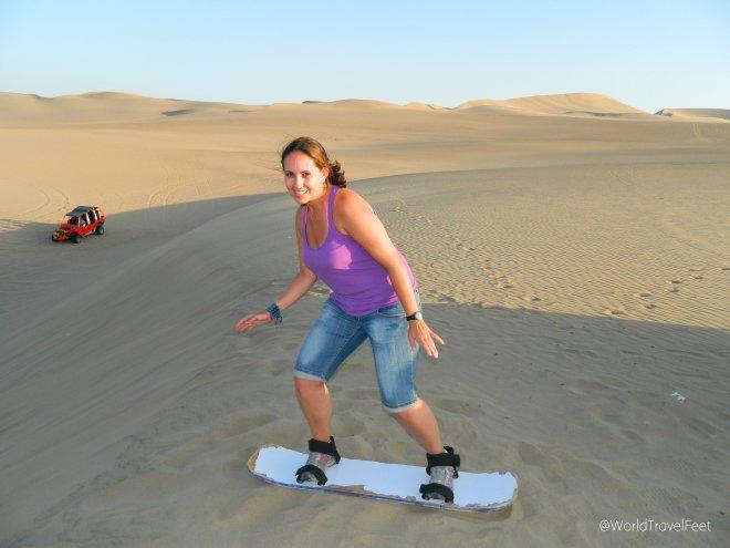Un poco de pose antes de perder el estilo bajando esas dunas.