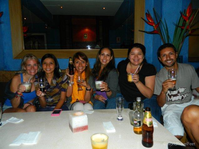 De izquierda a derecha: Lau, Indira, Grace, Yo, Cheylu y Gabo. #ViajeAdictos