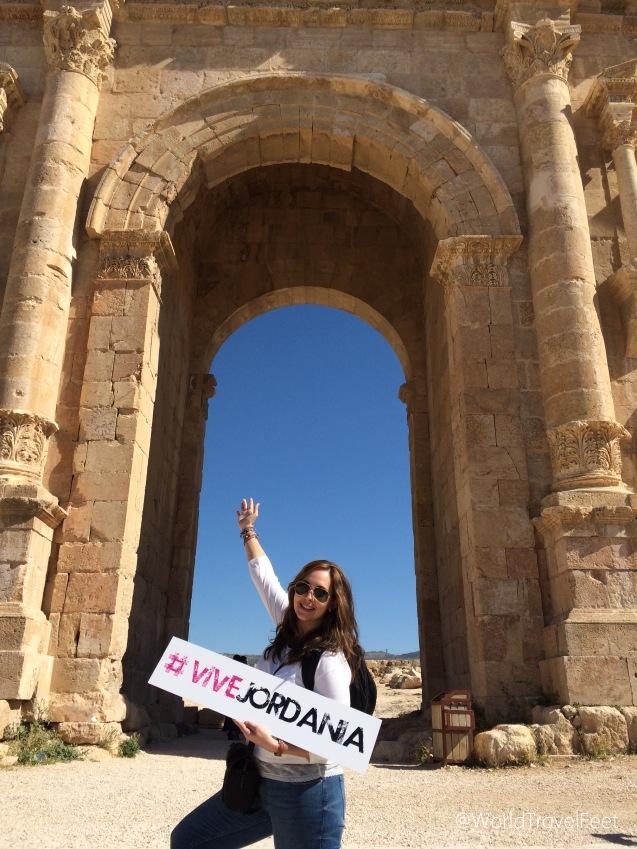 Impresionante el Arco de Adriano, así se #viveJordania.