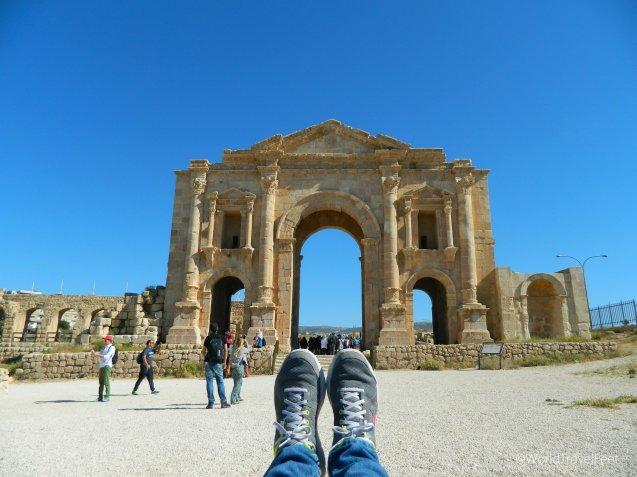 Arco de Adriano en las ruinas grecorromanas de Gerasa.