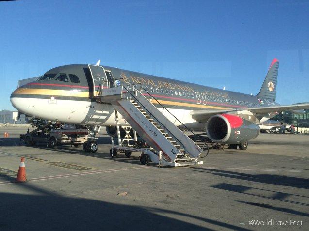 Los vuelos entre Madrid y Ammán los hicimos con Royal Jordanian.
