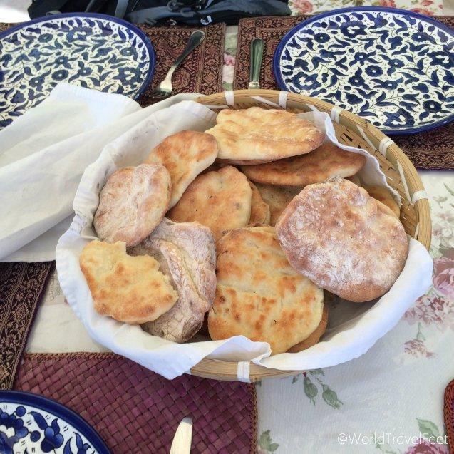 Riquísimo pan árabe.