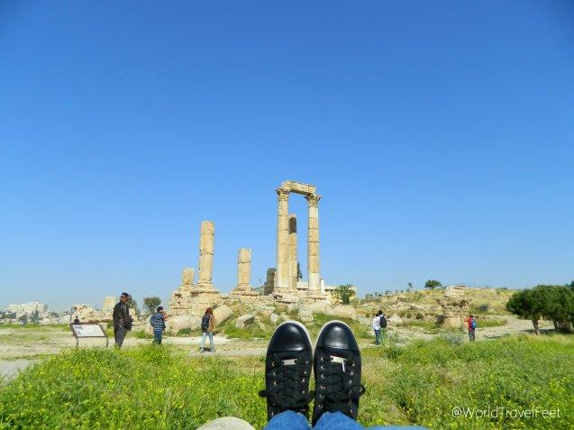 Caminando la Ciudadela de Ammán.
