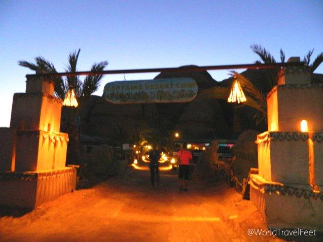 Llegando al Hotel/Campamento en el que nos hospedamos.