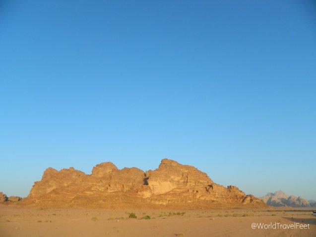 Wadi Rum y sus paisajes marcianos.